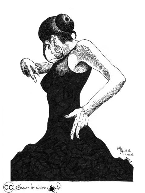 dessin flamenco